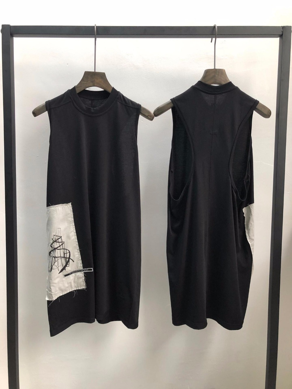 Camiseta sin mangas de los hombres de la seak de 19ss 100% algodón estilo gótico ropa de los hombres Tops camisetas de las mujeres del verano negro camisa talla XL-in Camisetas de tirantes from Ropa de hombre    1