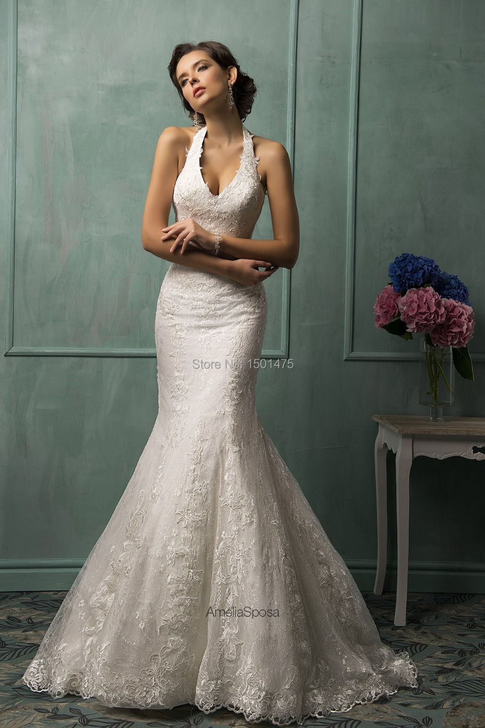 halter top wedding dresses chiffon pleated bodice halter wedding gown with sexy side slit