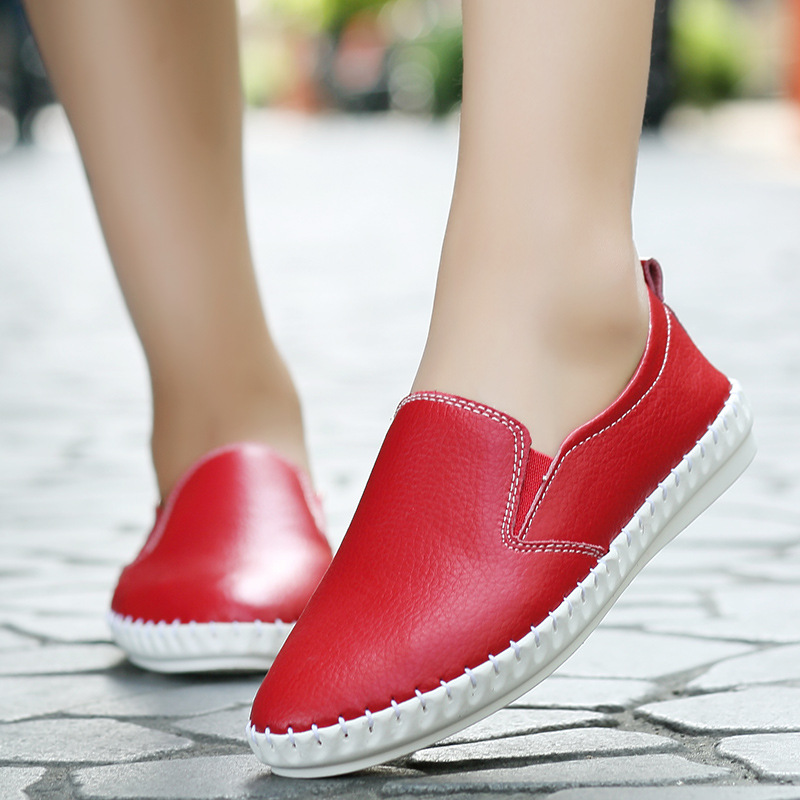 Nurses small white shoes 2017 spring and summer students flat shoes a pedal lazy pregnant women big music music shoes 2015 summer shallow mouth of canvas shoes women shoes a pedal lazy shoes casual flat white shoes korean wave shoes