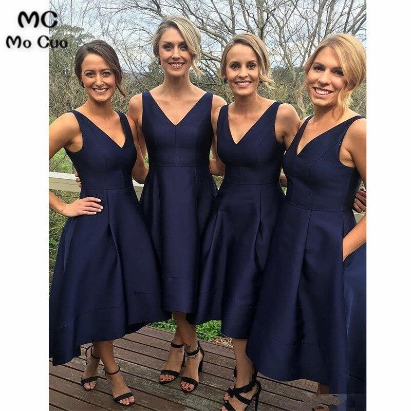 Mocuo 2019 Navy Blue Bridesmaid Dresses