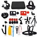 Gopro acessórios kit set para gopro hero 3 3 + saco de recolha chesty cinta de cabeça ir pro floaty selfie monopé tripé montar gp-k03