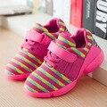 Rayas yeezy kids sneakers 2016 nuevos niños mocasines zapatillas de chicos girl shoes kids entrenadores cómodo de malla transpirable zapatillas de deporte