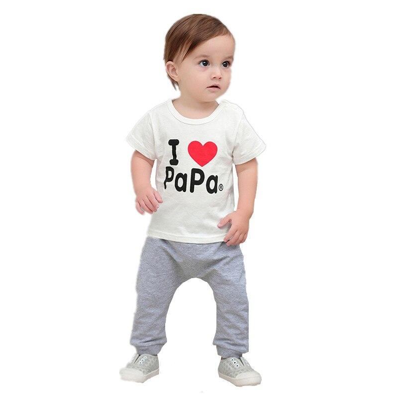2019 Neuer Stil Ich Lova Papa Baby T Shirt Baby Jungen Und Mädchen Brief Cartoon Print Kurzarm T-shirt Sommer Kleidung Kid Kleidung Produkte HeißEr Verkauf
