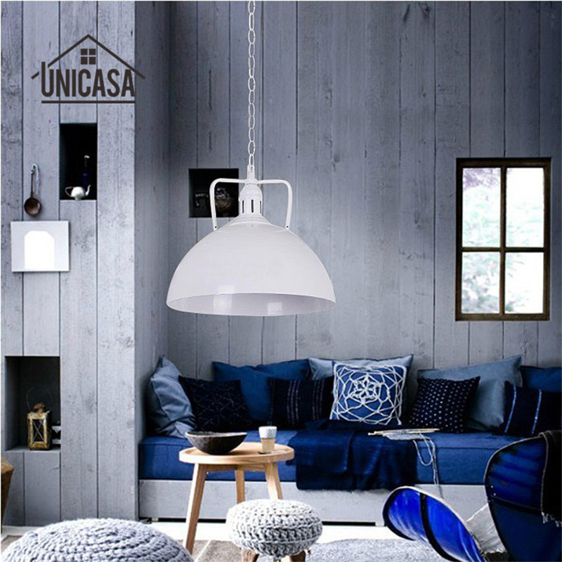 Wrought Iron Lighting Fixtures Industrial White Kitchen Lamp Hotel Modern Pendant Lights Vintage Country Pendant Ceiling Lamp white black shade wrought iron lighting fixtures modern pendant lights kitchen island office antique mini pendant ceiling lamp