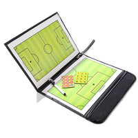 Coaching Board Folding Football Tactic Board Magnetic Soccer Coach Tactical Plate Book Set With Pen Clipboard