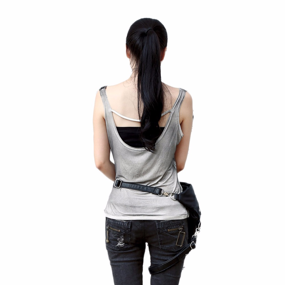 Womens Steampunk Bags Backpack Steam Punk Bags Pockets Gothic Female Waist Bags 2017 New Rock Triangle Bags with zipper in Backpacks from Luggage Bags