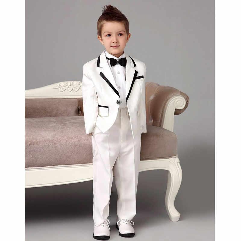 Bridalaffair 2018パンツ付き2ピースセット白男の子スーツレインボーページェントドレスウエディングフォーマルスーツ用男の子子供服