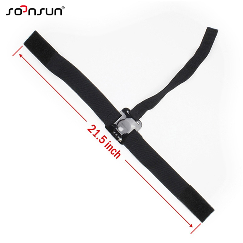 SOONSUN Head Strap Mount Head Harness Mount Belt with Chin Strap for