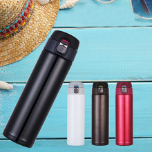 Vacuum Cover Double Stainless Steel Thermos Cup, Portable Water Cup For Outdoor Sports, Large Capacity Home Use