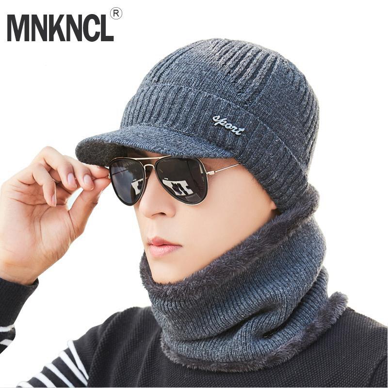 MNKNCL Winter Hat Skullies Beanies Hats Winter Beanies For Men Women Wool Scarf Caps Balaclava Mask Gorras Bonnet Knitted Hats