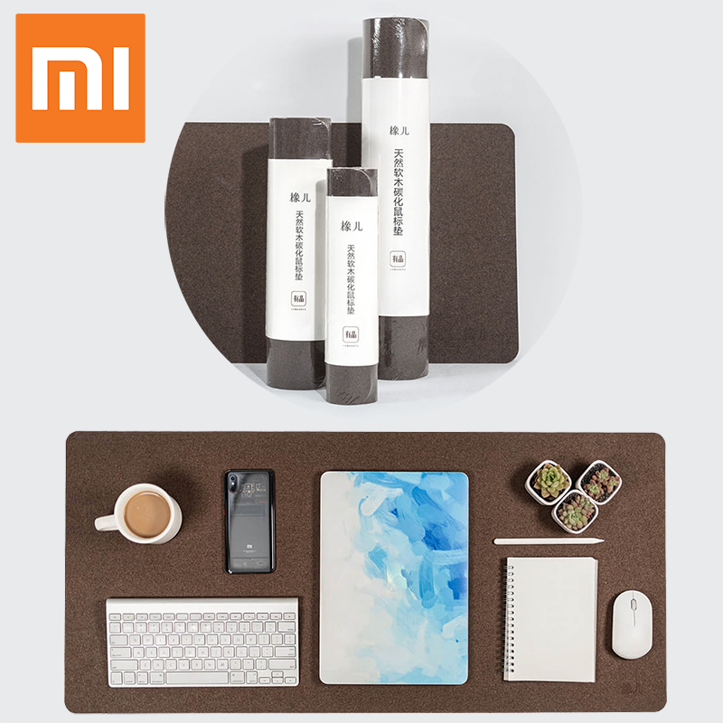 Hot XIAOMI Big Large Thick Mouse Pad Computer Waterproof Desk Pad Laptop Oak Material Oil Resistance Mouse Pad For Office Gaming