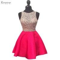Блестящие короткие выпускников платье 2018 Милые ярко розовый топ бисером сладкие 16 спинки 8th высокого качества платья для выпускного вечера