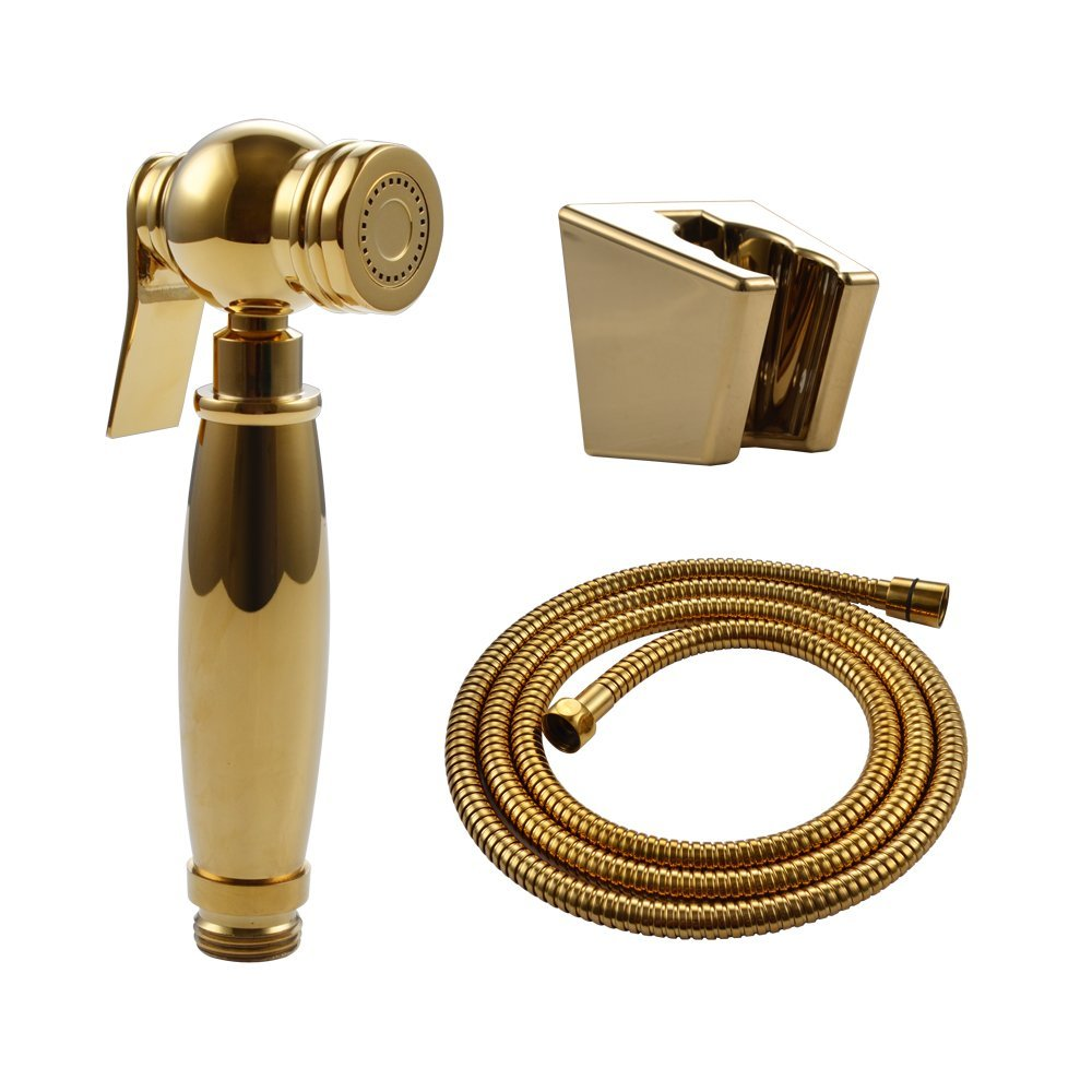 Bathroom Toilet GOLD Solid Brass Handheld Bidet Sprayer Shattaf golden Toilet  Attachment Cloth Diaper Sprayer With. Popular Hose Attachments Buy Cheap Hose Attachments lots from