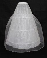 Gorąca Sprzedaż Tanio Wysokiej Jakości Suknia Petticoat 3 Obręcze Biały Podkoszulek Krynoliny Ślubne 2018 New Arrival