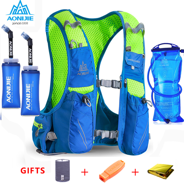 2018 AONIJIE E904S Nylon 10L Outdoor Bags Hiking Backpack Vest Professional Marathon Running Cycling Backpack for 1.5L Water Bag