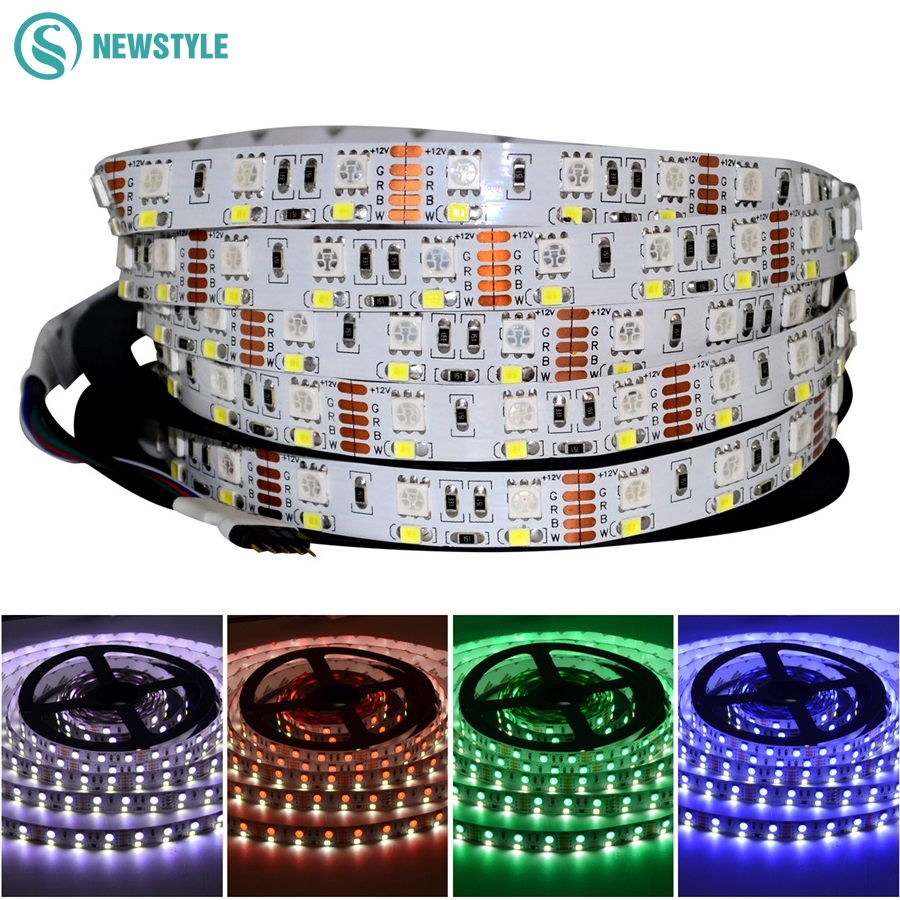 Double Row RGBW LED Strip Waterproof IP20/IP67 Led Light 5050 RGB + 2835 White / Warm White DC12V 120leds/m Tape Ribbon contrast trim stretch perforated briefs