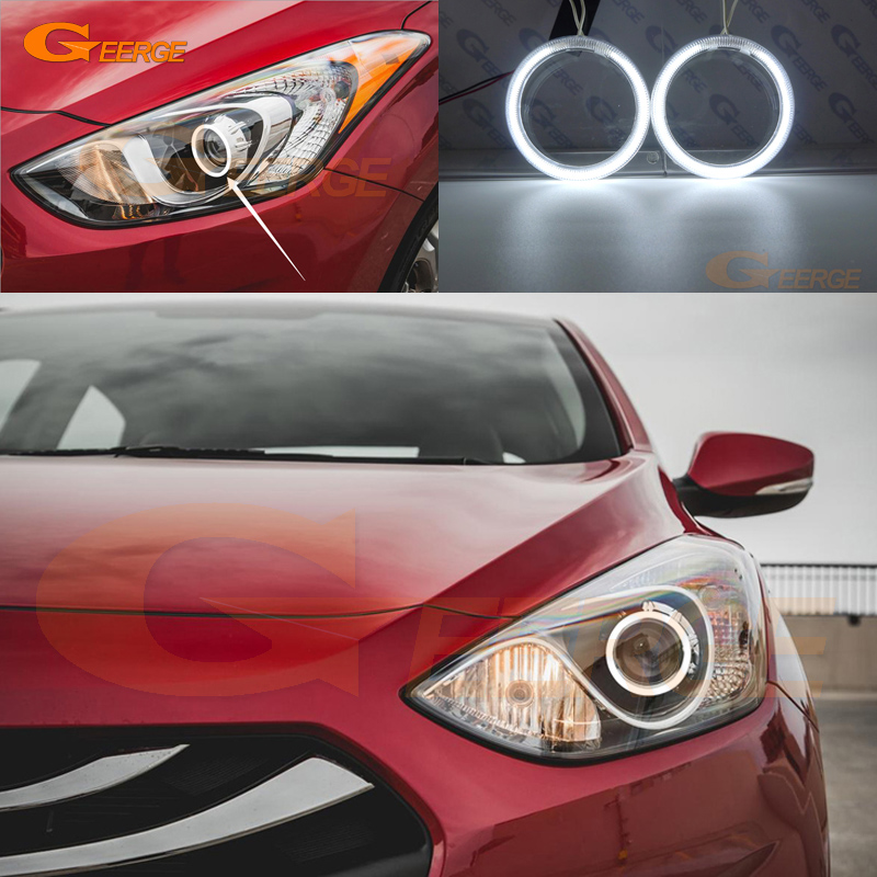 For HYUNDAI ELANTRA 2013 2014 2015 2016 GT HATCHBACK Excellent Ultra bright illumination CCFL Angel Eyes kit Halo Ring hyundai accent hatchback ii бу москва