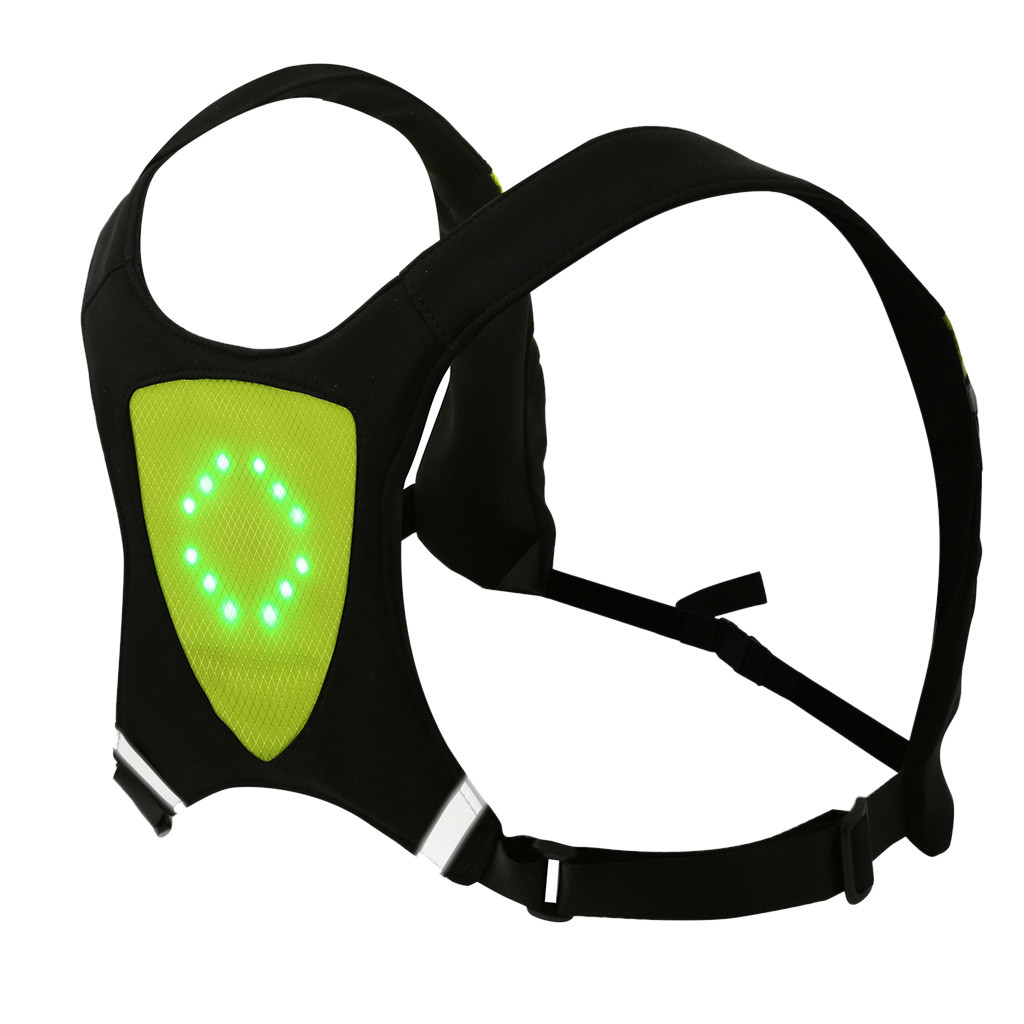 Efficient Usb Charging Led Light Warning Vest Backpack Mtb Bike Bag Safety Led Signal Vests Warning Accessories Bicycle Accessories
