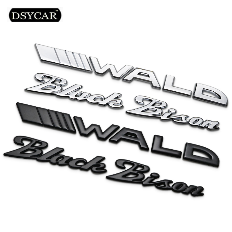 Dsycar 1Pcs 3D Metal WALD Black Bison Car Side Fender Rear Trunk Emblem Badge Sticker Decals for Mercedes-Benz E S Car Styling mayitr chrome abs 4matic 4 matic logo emblem car rear trunk lid letters badge sticker decal for mercedes benz car styling
