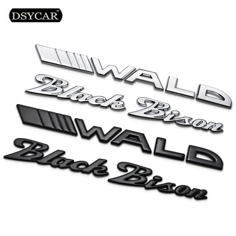 Dsycar 1Pcs 3D Metal WALD Black Bison Car Side Fender Rear