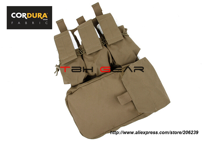 TMC Assault Back Panel Pack 500D Cordura Coyote Brown Military MOLLE Pack+Free shipping(SKU12050217)