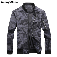 NaranjaSabor 7XL New Men's Camouflage Bomber Zipper Jackets Male Slim Fit Pilot Coats Camo Outwear Plus Size Men Brand Clothing