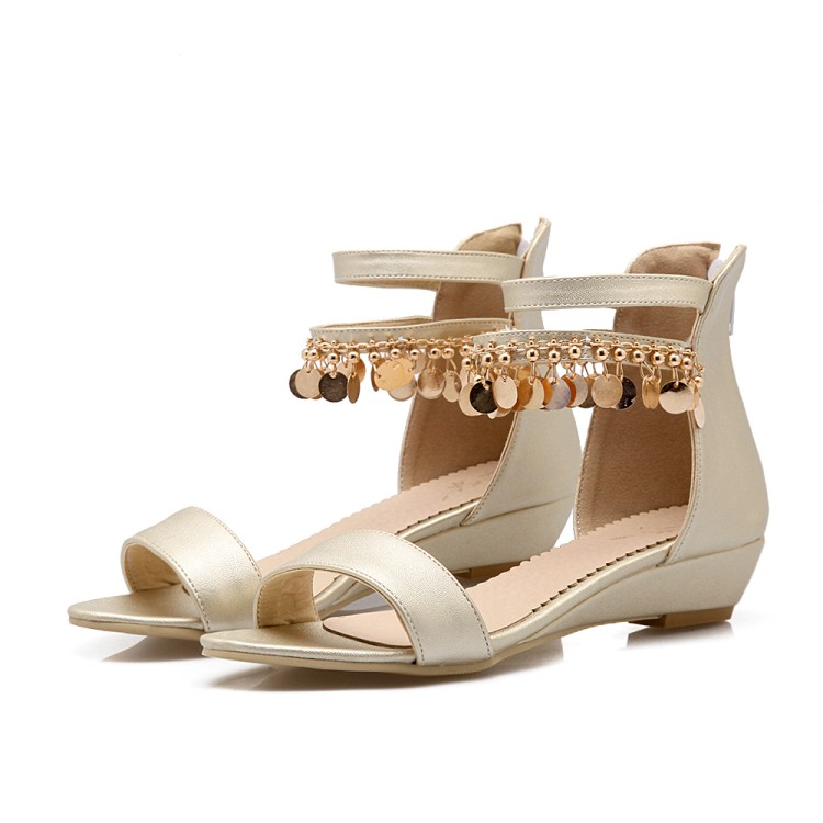 Shoes Women Sandals Heel Summer-Style Fashion Sapato Feminino Medium 0-3cm Chaussure