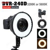 Falcon Eyes 240 кольцо светодиодный Панель 5500 К освещение видео фильм непрерывный ж/Камера кронштейн/фильтр DVR 240D CD50