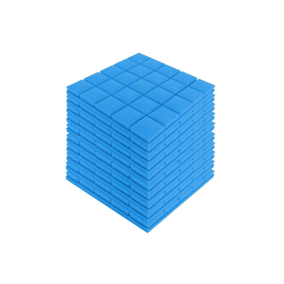 24 Uds. 4 colores 50x50x5cm estudio acústico insonorizado espuma absorción de sonido Panel de tratamiento azulejo cuña esponja protectora - 5