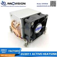 2U lga2011 kühler mit 4 kupfer rohre  aluminium legierung kühlkörper  2u server kühler-in Lüfter & Kühlung aus Computer und Büro bei
