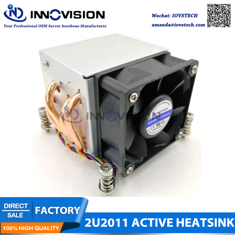 2U lga2011 radiator with 4 copper pipes ,aluminum alloy heatsink,2u server <font><b>cooler</b></font> image