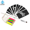 OPHIR 6 Colors Shimmer Body Glitter Temporary Tattoo Kit for Body Art Paint with 10pcs Stencils Body Glue & 2x Brushes _TA054