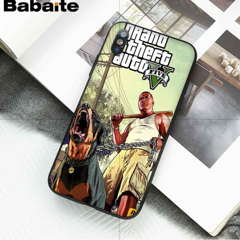 Babaite แกรนด์ขโมยอัตโนมัติ 5 Gta Ultra บางรูปแบบการ์ตูนโทรศัพท์กรณีสำหรับ iphone ของ Apple iphone 8 7 6 6S plus X XS MAX 5 5S SE XR ฝาครอบ