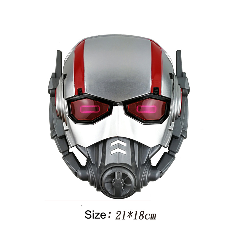 2018 Ant Man Mask LED Light Action Figure Marvel Super Man Avengers Mask Halloween For Kids Props Party Cosplay Mask Accessory