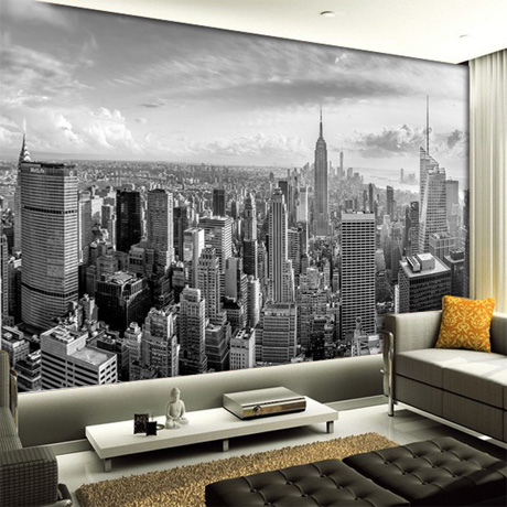 5D Papel Murals New York City Building scenery black&white 3D photo mural wallpaper for living room background 3d wall mural