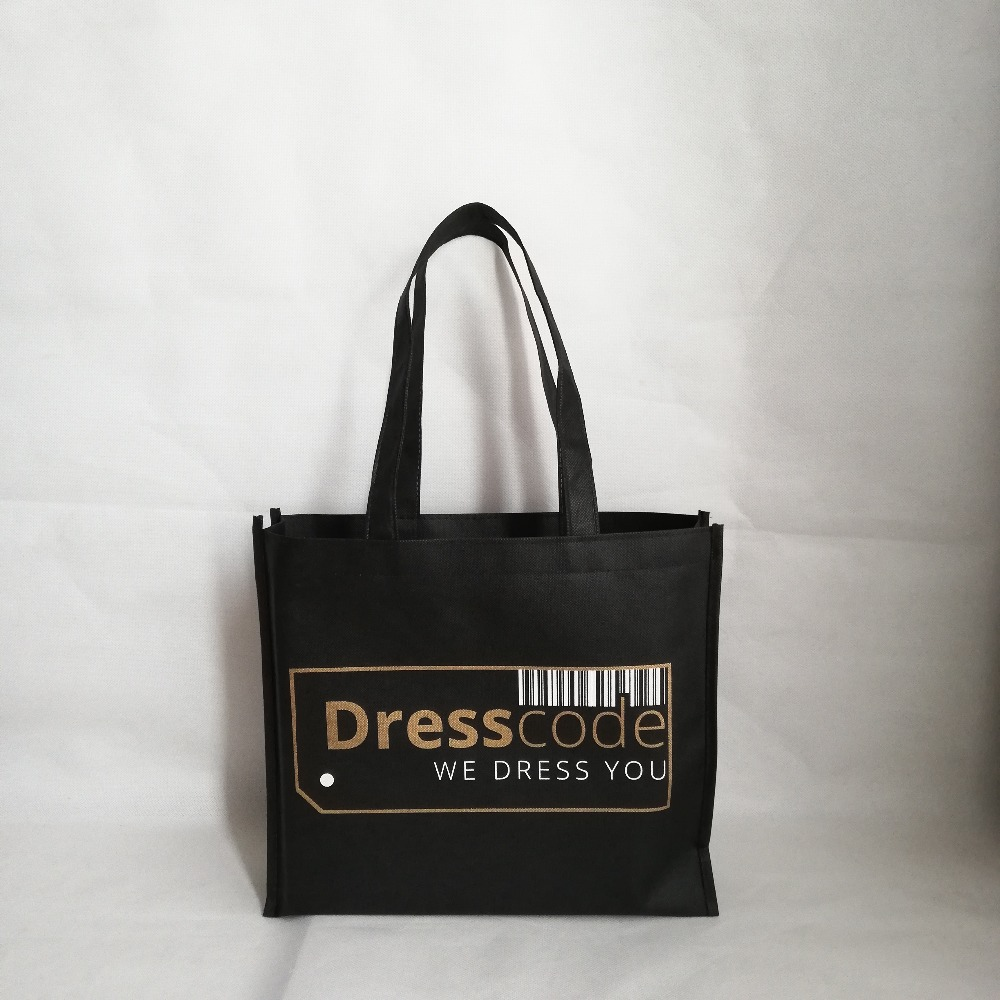 Wholesales 500pcs lot Tote Bag Custom Non Woven Bags with Logo Reusable Shopping Bags with handles
