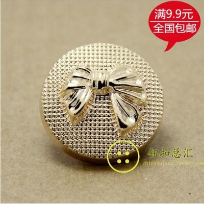 High-end atmosphere coat sweater metal bowknot design rose gold high-grade ladies clothing decorative buttons 100pcs/lot
