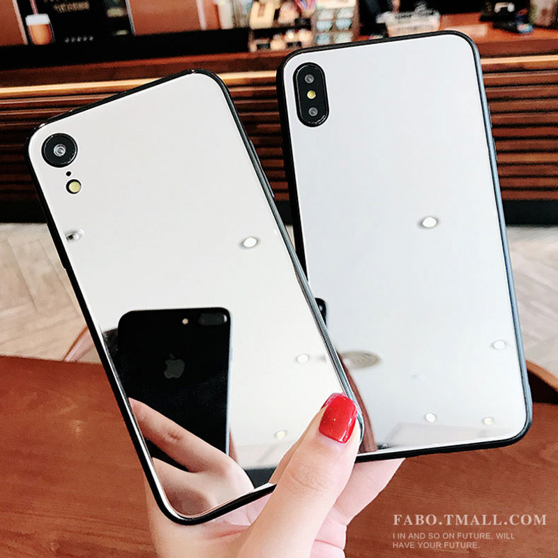 Mirror Glass Case for iPhone XS XR 8 Coque Luxury Funda iphonexs Cover Phone Bumper for Case iPhone X 7 6 6S 8 Plus XS Cases