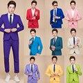 Moderador vestido rendimiento ropa estudio traje de color más el código de los hombres men's clothing L-5XL