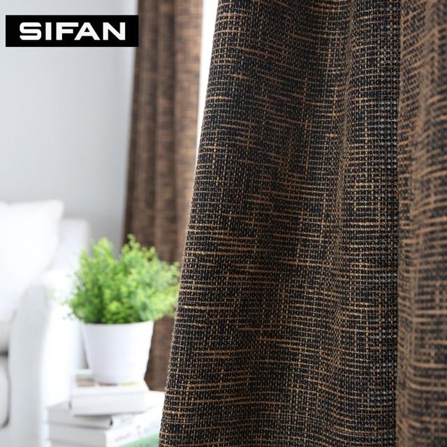 Aliexpress.com : Buy Japan Solid Color Burlap Blackout Curtains ...