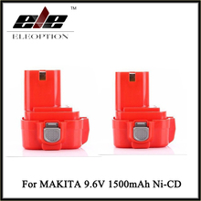 Eleoption Haute Qualité 9.6 V 1500 mAh Ni-cd Batterie pour Makita 9120 9122 193977-7 638344-4-2 9.6 Volts Forage