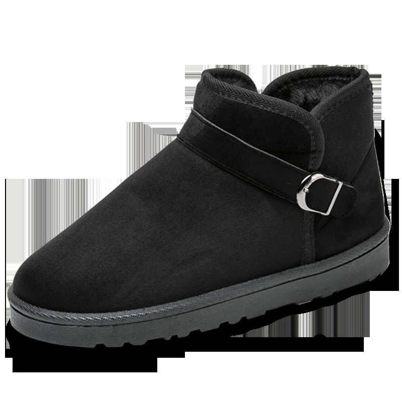 REETENE 2018 Winter Warm Mannen Snowboots Hoge Kwaliteit Outdoor Heren Laarzen Mannen Enkellaarsjes Casual Heren Schoenen Plus Size 40-45