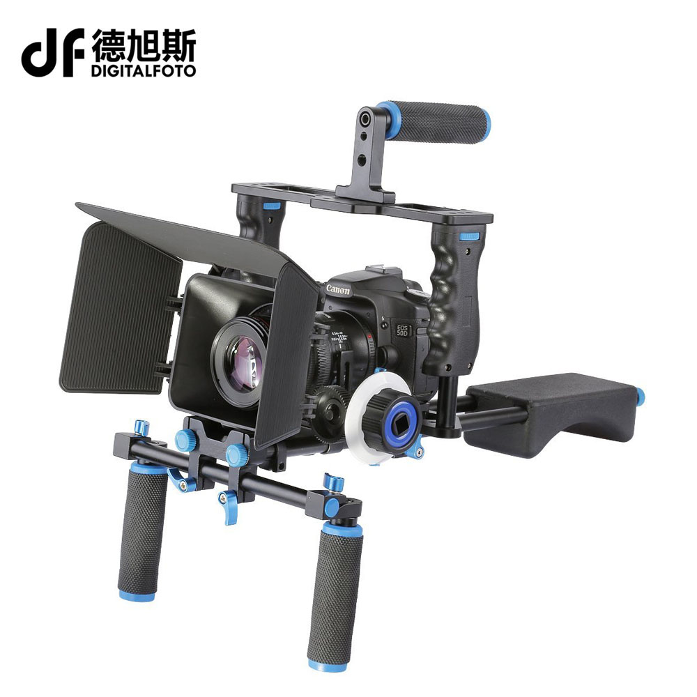 DSLR 5D2 rig 5D3 video camera dslr rig shoulder mount stabilizer steadicam follow focus matte box GH4
