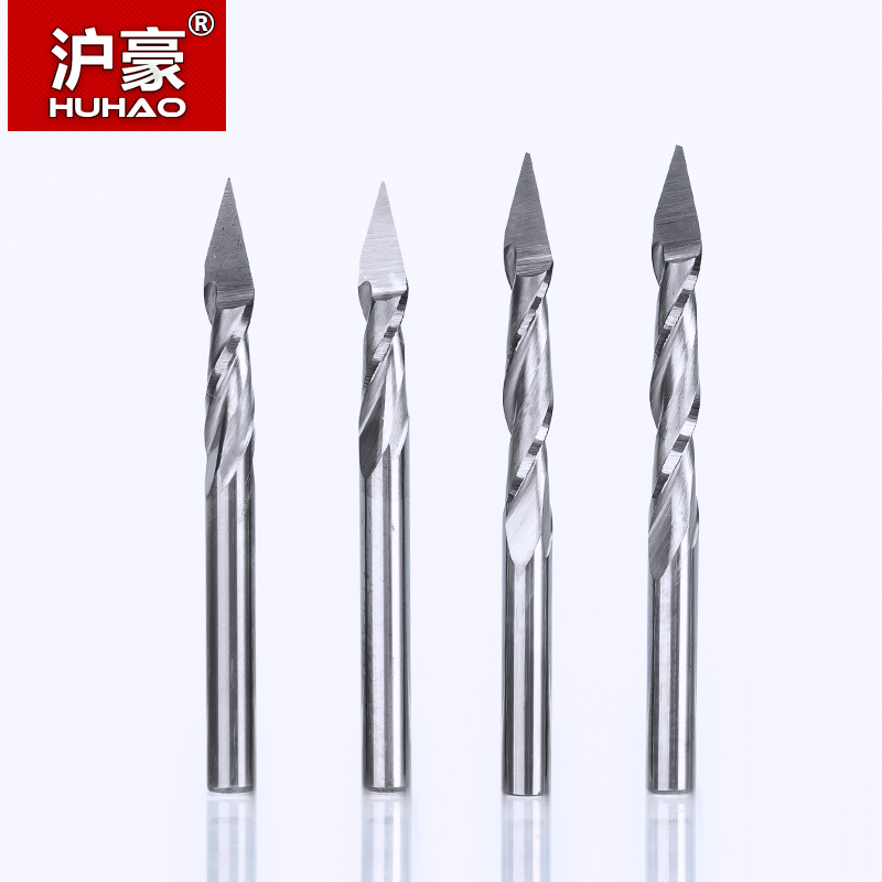 HUHAO 10pc/lot 3.175mm 2 Flute Spiral Pyramid engraving bits for wood CNC router bit Carving knife Degree 30 for 2D 3D sculpture планшет wacom intuos pro small pth 451 rupl
