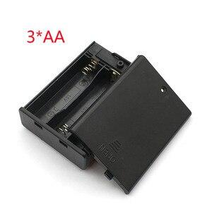 Image 3 - 3 AA 4.5 فولت صندوق حامل البطارية الحال مع التبديل جديد 3 AA 2A صندوق حامل البطارية الحال مع التبديل 4.5 فولت