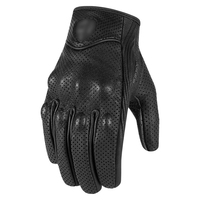 Gloves Retro Pursuit Perforated Real Leather Motorcycle Gloves Moto Windproof Warm Gloves Motorcycle Protective Gears Motocross