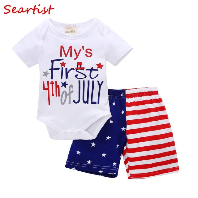 bde139fb6 Seartist July 4th Clothes 4th of July Baby Girl Boy Clothes Toddler Girls  Summer Clothing set Fourth of July Clothes Shorts 32