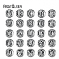 FirstQueen Authentic 925 Sterling Silver Vintage A a Z, limpar CZ Contas Letra Do Alfabeto Encantos Fit Pulseiras Europeus Originais