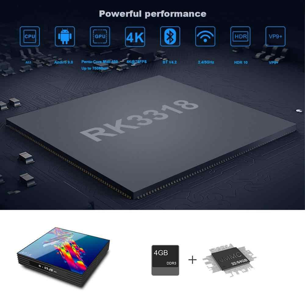 Google Tv kutusu android 9.0 H96 MAX Rockchip 4G 16 GB 32 GB 64 GB android Tv kutusu 2.4/5.0G WiFi Bluetooth 4.0 4 K 3D iptv Android kutusu