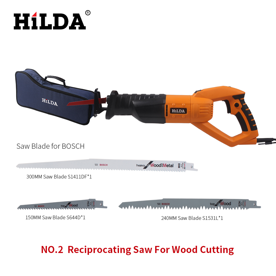HILDA 950w Reciprocating Saw Woodworking Electric Saw 6Speed Portable Electric Saws220v/50hz Scroll Saw Jig Saw For Wood Cutting tasp 12pcs 4 105mm pinned scroll saw blades for woodworking wood sawing